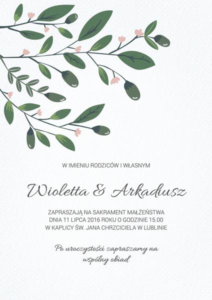 Zaproszenie Na ślub Drzewko Miłości Smartinvite Blog