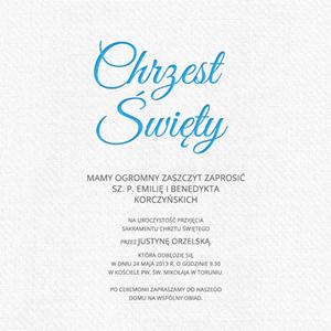 Zaproszenia Na Chrzest święty Smartinvite