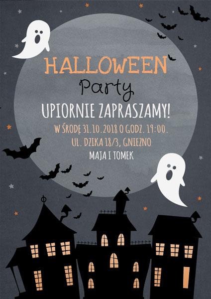 Zaproszenie Halloween City Smartinvite